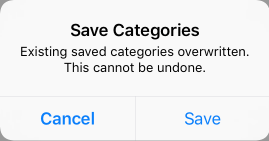 Save Categories